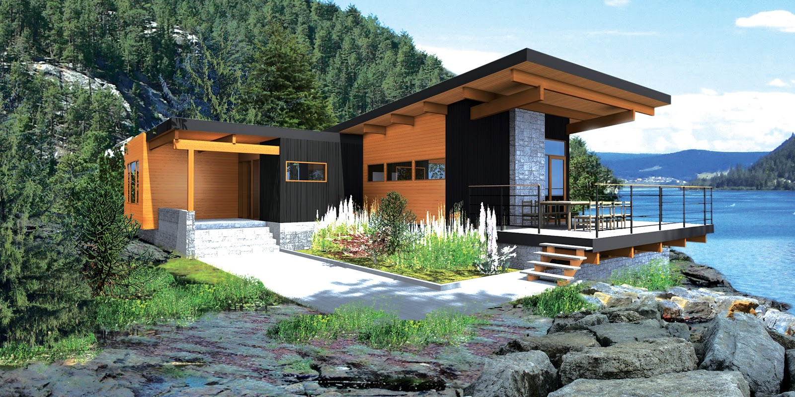 Stunning moderns designed by leading architects sierra for Lindal cedar home plans